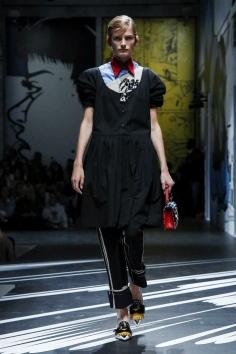 Prada Fashion Show, Ready to Wear Collection Spring Summer 2018 in Milan
